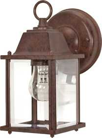 Satco Nuvo Lighting 60-637 Outdoor Cube Lantern With Beveled Glass Old Bronze