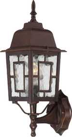 Satco Nuvo Lighting 60-4925 Outside Wall Light With Water Glass Rustic Bronze