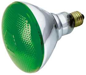 Satco Nuvo Lighting S4427 100 Watt Br38 Green Incandescent Bulb