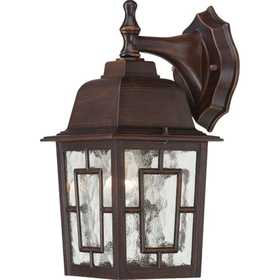 Satco Nuvo Lighting 60-4922 Outdoor Wall Light 1 Lt 12 in Banyon Rustic Bronze