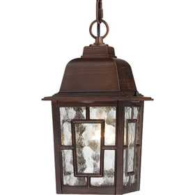 Satco Nuvo Lighting 60-4932 Hanging Outdoor Light 1 Lt 11 in Banyon Rustic Bronze