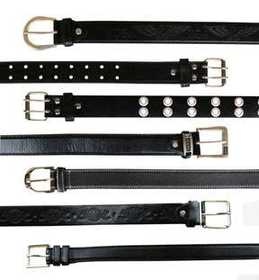 Samara Vendrell BELT Mens Leather Belts Black