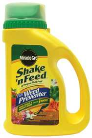 Scotts Miracle-Gro 103836 Shake-N Feed Plus Weed Preventer 4.5Lb