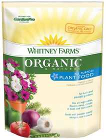 Whitney Farms 109101 Organic And Natural All Purpose Plant Food, 4 Lbs