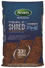 Scotts 88659410 1-1/2 Cu. Ft. Bagged Nature Scapes Triple Shred Brown Mulch