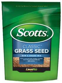 Scotts 17183 Classic Sun & Shade Mix Grass Seed 3lb
