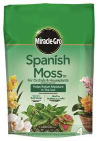 Miracle-Gro 77774300 Spanish Moss For Orchids & Houseplants 4qt