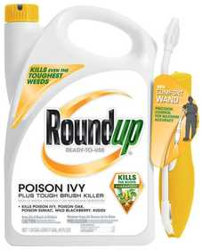 Monsanto 5203910 Roundup Poison Ivy Plus Tough Brush Killer, 1.33 Gal With Wand