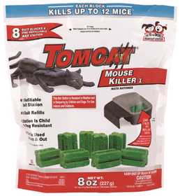 TOMCAT 22478 Mouse Killer Bait With Refillable Station