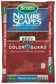 Scotts MR88402440 Natural Scapes Color Enhanced Mulch Sierra Red 2cf