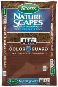 Scotts MR88602440 Natrual Scapes Color Enhanced Mulch Deep Forest Brown 2cf