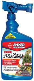 Bayer Advanced 701287A 3 In1 Insect Disease And Mite Control Ready To Spray 32 Oz