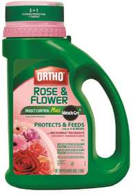 Ortho OR9991810 Rose & Flower Insect Control+Miracle-Gro Plant Food Granules 4lb