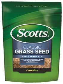 Scotts 17187 Classic Sun And Shade Mix Grass Seed, 20 Lb