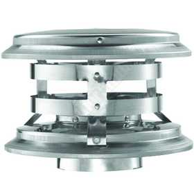 DuraVent 33180 Cap Vertical Vent 4 in Multi Fuel