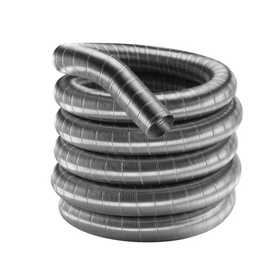 DuraVent 6DF304-15 DuraFlex 304 Stainless Steel Length 6 in x15 ft