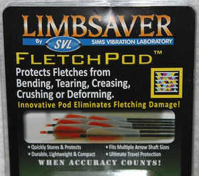 Sims Vibration Laboratory 4301 Limbsaver Fletchpod Fletch Cover Clear 6 Pack #4301