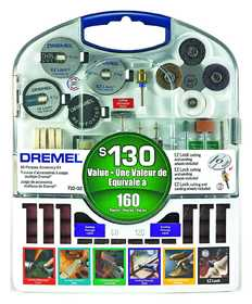Dremel 710-05 160pc Accessory Kit W/Plstc St