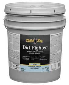 Dutch Boy 1.DB51709-20 Dirt Fighter Exterior Acrylic Latex Paint Flat Neutral Base T 5 Gal
