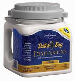 Dutch Boy 1.DB67606-16 Dimensions Interior Acrylic Satin Yellow Base Gal
