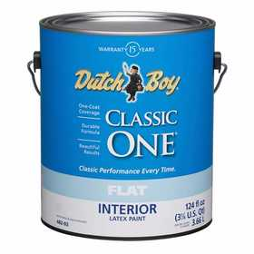 Dutch Boy 1.0048207-16 Classic One Interior Latex Paint Flat Ultra White