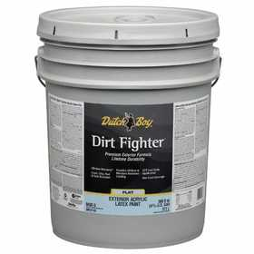 Dutch Boy 1.DB51707-20 Dirt Fighter Exterior Latex Paint Flat Ultra White 5-Gallon