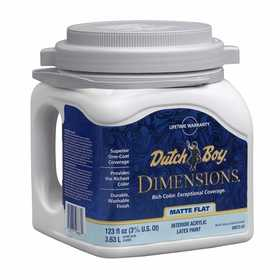 Dutch Boy 1.DB67203 Dimensions Interior Acrylic Paint Flat Dimensions White Gallon
