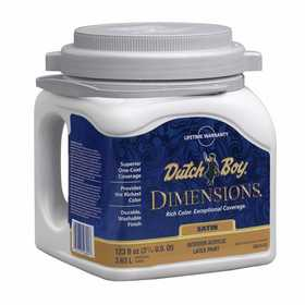 Dutch Boy 1.DB67603 Dimensions Interior Acrylic Paint Satin White Gallon