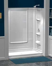 ASB Corp 39624 Eleganza 60 in White Direct-To-Stud Shower Wall