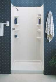 ASB Corp SW3044A Gloss White Shower Wall Kit