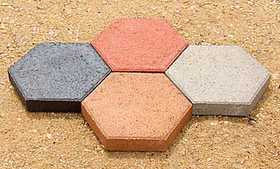 St. Vrain Block 10920 Hexagon Stepping Stone 2x14 Red