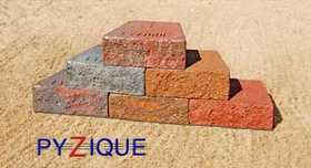 St. Vrain Block 14320 Pyzique Retaining Wall Block Red