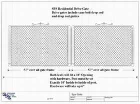 STEPHENS PIPE & STEEL GTB12048 10 ft X 4 ft 12.5 Gauge Galvanized Steel Bent Frame Drive-Thru Residential Fence Gate