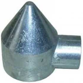 STEPHENS PIPE & STEEL HD42041RP 2-1/2 in Aluminum Chain Link Fence Bullet Cap, 1-Way