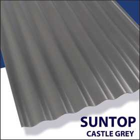 Palram Americas 108974 Suntop Panel 8 ft x26 Castle Grey