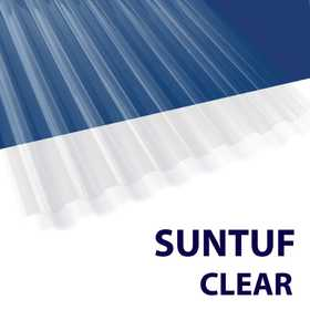 Palram Americas 101699 Suntuf Polycarbonate Panel 12 ft x26 Clear