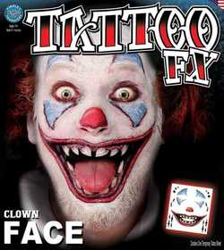 Tinsley Transfers Inc. FC-506 Clown Face Temporary Tattoo
