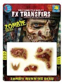 Tinsley Transfers Inc. FXTM-514 Zombie Running Dead Temporary Tattoo