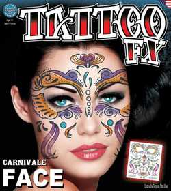 Tinsley Transfers Inc. FC-504 Carnivale Temporary Tattoo