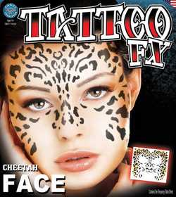 Tinsley Transfers Inc. FC-500 Cheetah Face Temporary Tattoo