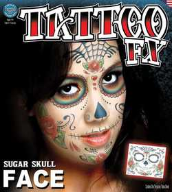 Tinsley Transfers Inc. CT-412 Sugar Skull Temporary Tattoo