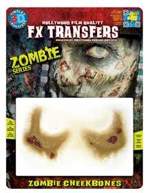 Tinsley Transfers Inc. FXTM-701 Zombie Cheekbones Temporary Tattoo