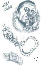 Tinsley Transfers Inc. CT-414 Prison Lock Down Temporary Tattoo
