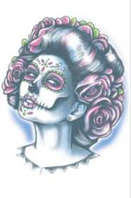 Tinsley Transfers Inc. DOD-111 Senora Muerte Temporary Tattoo