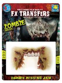 Tinsley Transfers Inc. FXTM-707 Zombie Missing Jaw Temporary Tattoo