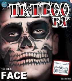 Tinsley Transfers Inc. CT-411 Skull Face Temporary Tattoo