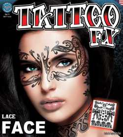 Tinsley Transfers Inc. FC-503 Lace Face Temporary Tattoo