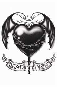 Tinsley Transfers Inc. GTH-212 Dead Inside Temporary Tattoo