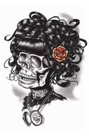 Tinsley Transfers Inc. GTH-210 Doris The Dead Temporary Tattoo