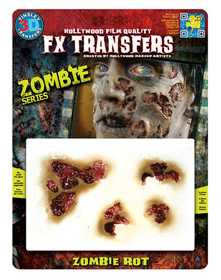 Tinsley Transfers Inc. FXTM-513 Zombie Rot Temporary Tattoo